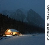 lake louise  ab  canada... | Shutterstock . vector #756936208