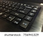 a part of keyboard from corner... | Shutterstock . vector #756941329