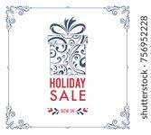 square christmas sale banner...   Shutterstock .eps vector #756952228