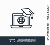 icon online education graphic... | Shutterstock .eps vector #756952234
