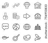 thin line icon set   diagram ... | Shutterstock .eps vector #756953833