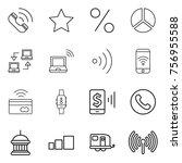 thin line icon set   call  star ...