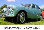 essex  uk   08 13 17  1953 ford ... | Shutterstock . vector #756959368