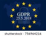 general data protection... | Shutterstock .eps vector #756964216