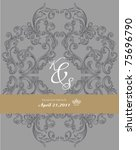 antique paper with ornate... | Shutterstock .eps vector #75696790
