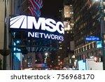 new york city  circa 2017 ... | Shutterstock . vector #756968170