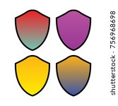 vector shield icon | Shutterstock .eps vector #756968698