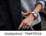 White Women\'s Wrist Watch On...