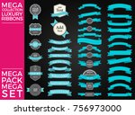 beautiful set and pack luxury... | Shutterstock .eps vector #756973000