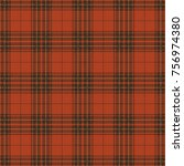 orange tartan plaid. seamless... | Shutterstock .eps vector #756974380