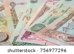 uae dirham currency notes and... | Shutterstock . vector #756977296
