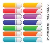 set of blank buttons | Shutterstock .eps vector #756978370
