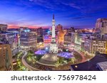 indianapolis  indiana  usa... | Shutterstock . vector #756978424