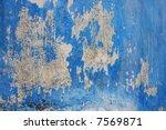 grunge blue wall texture | Shutterstock . vector #7569871