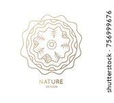 the logo of nature on white... | Shutterstock . vector #756999676