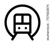 metro passing from subway | Shutterstock .eps vector #757002874