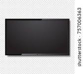 realistic blank led tv screen... | Shutterstock .eps vector #757006363