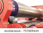 various metal elements of rolls ... | Shutterstock . vector #757009654