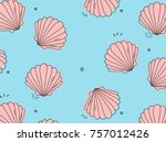 Vector Sea Shell Pattern....