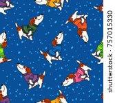 vector seamless pattern for new ... | Shutterstock .eps vector #757015330