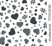 hashtag and heart seamless... | Shutterstock .eps vector #757015930