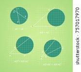 geometry  segments of chords ... | Shutterstock .eps vector #757017970