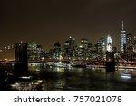 Nightly Skyline Of Nyc Downtow...