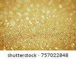 lights on gold background....   Shutterstock . vector #757022848