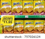 Small photo of Kota Kinabalu Sabah Malaysia - Oct 24, 2017: Jacob's crackers hi-fibre on shelf of Giant's Hypermarket. Exemption of the cabotage policy for Sabah, Sarawak and Labuan have started from June 1.