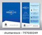 business brochure template.... | Shutterstock .eps vector #757030249