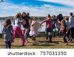 kids dancing at music festival... | Shutterstock . vector #757031350