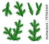 vector branch of the christmas... | Shutterstock .eps vector #757041469