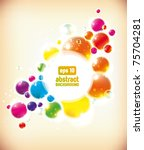 abstract colorful bubbles... | Shutterstock .eps vector #75704281