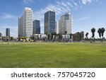 modern buildings of tel aviv | Shutterstock . vector #757045720