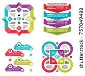 infographic elements template... | Shutterstock .eps vector #757049488