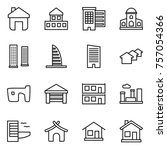 thin line icon set   home ...   Shutterstock .eps vector #757054366