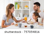 family  eating and people... | Shutterstock . vector #757054816
