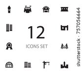 set of 12 architecture icons... | Shutterstock .eps vector #757056664