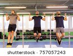 sport  fitness  exercising and... | Shutterstock . vector #757057243