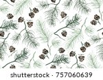 winter gifts of nature that... | Shutterstock .eps vector #757060639