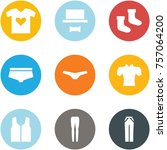 origami corner style icon set   ... | Shutterstock .eps vector #757064200