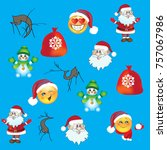 christmas illustration with... | Shutterstock .eps vector #757067986