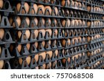 many packages of eggs in black...   Shutterstock . vector #757068508