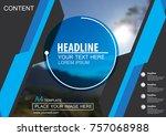 abstract vector modern brochure ...   Shutterstock .eps vector #757068988