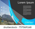 abstract vector modern brochure ... | Shutterstock .eps vector #757069168