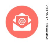 mail icon. email vector... | Shutterstock .eps vector #757071514