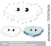 funny ice floe. dot to dot... | Shutterstock .eps vector #757075624