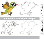 drawing worksheet for preschool ... | Shutterstock .eps vector #757075678