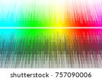 Sound Waves Design In Rainbow...