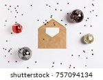 christmas greeting card... | Shutterstock . vector #757094134